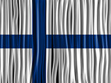 Finland Flag Wave Fabric Texture Background