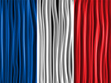 France Flag Wave Fabric Texture Background