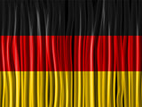 Germany Flag Wave Fabric Texture Background