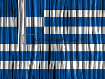Greece Flag Wave Fabric Texture Background
