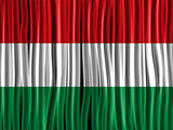 Hungary Flag Wave Fabric Texture Background
