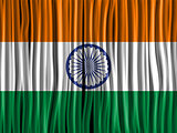 India Flag Wave Fabric Texture Background
