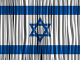 Israel Flag Wave Fabric Texture Background