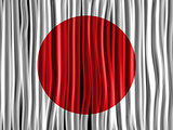 Japan Flag Wave Fabric Texture Background