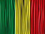 Mali Flag Wave Fabric Texture Background