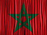 Morocco Flag Wave Fabric Texture Background