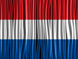 Netherlands Flag Wave Fabric Texture Background