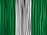 Nigeria Flag Wave Fabric Texture Background