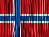 Norway Flag Wave Fabric Texture Background