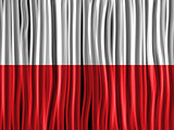 Poland Flag Wave Fabric Texture Background
