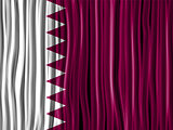 Qatar Flag Wave Fabric Texture Background