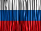 Russia Flag Wave Fabric Texture Background
