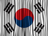 South Korea Flag Wave Fabric Texture Background
