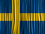 Sweden Flag Wave Fabric Texture Background