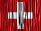 Switzerland Flag Wave Fabric Texture Background