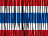 Thailand Flag Wave Fabric Texture Background