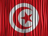 Turkey Flag Wave Fabric Texture Background