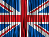 UK Flag Wave Fabric Texture Background