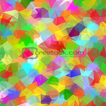 Abstract geometric polygonal colorful background.