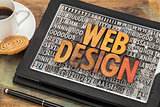 web design on digital tablet