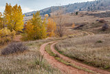 dirt road in Colorado foothills