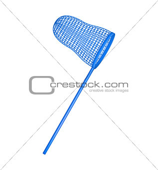 Net in blue design