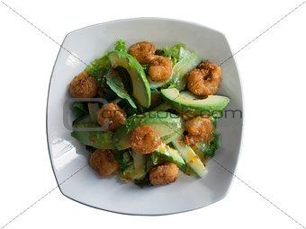 prawns and avocado salad