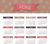 Vector calendar 2014