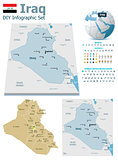 Iraq maps with markers