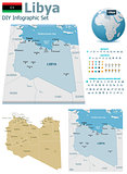 Libya maps with markers