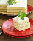 sponge cake with white chocolate