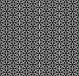 Seamless geometric Hexagons, triangles and stars texture.