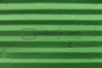 Green metal plate