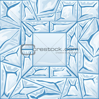 frame with ice seamless pattern