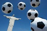 Soccer Ball Football Float at Corcovado Rio de Janeiro