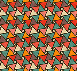 Retro pattern of triangle shapes.