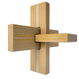 Wooden abstract 3D shape