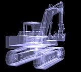 Excavator. X-ray