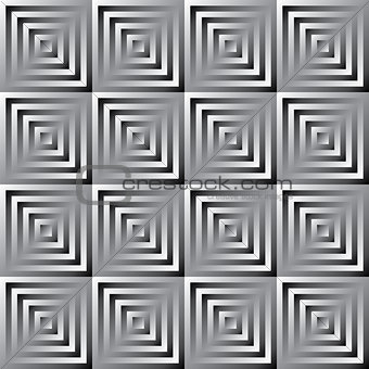 Abstract vector monochrome squares pattern