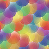 Vector background - color transparent circles