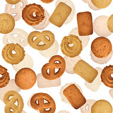 Danish butter cookies - seamless vector texture