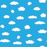 Vector clouds on sky - seamless texture