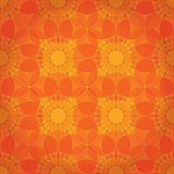 Orange abstract floral background