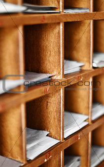Wood cells with paper for buddhist divination
