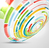 Circle abstract background