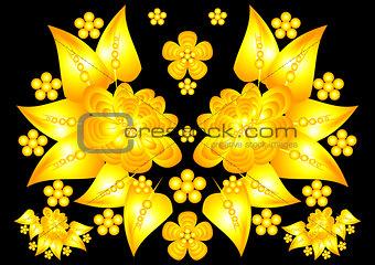 Floral golden ornament