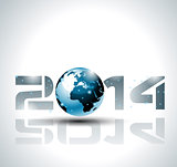 High tech 2014 happy new year background