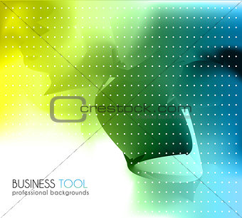 Corporate business brochure or card cover.