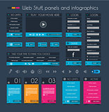 Web Design Stuff: price panel and infographic