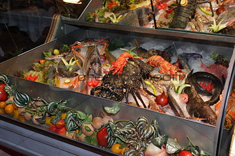 seafood at a restaurant